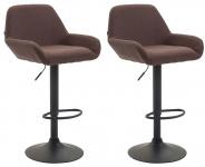 2 ks / set barová židle Braga látkový potah, hnědá