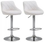 2 ks / set barová židle Lazio syntetická kůže, bílá