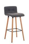 Barová židle Lincoln látkový potah, světle šedá