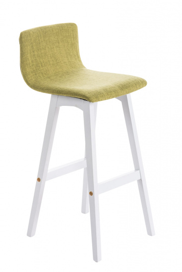 Barová židle Taunus látkový potah, bílá, zelená