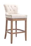 Barová židle Lakewood látkový potah, Antik-světlá, krémová