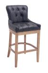 Barová židle Lakewood pravá kůže, Antik-světlá, černá