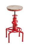 Barová židle Lumos, dřevo, antik, červená