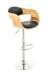 Barová židle Kingston, přírodní/černá