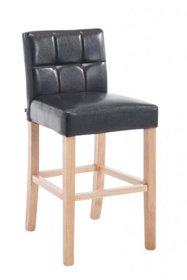Barová židle Raphael syntetická kůže, přírodní, černá