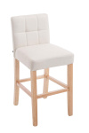 Barová židle Raphael látkový potah, přírodní, krémová