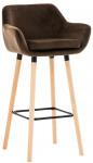 Barová židle Grant samet, hnědá