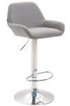 Barová židle Braga látkový potah, chrom, šedá