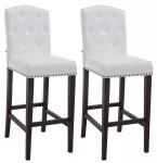 2 ks / set barová židle Louise syntetická kůže, antik, bílá