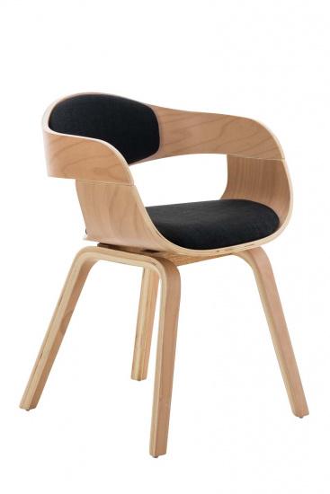 Jídelní / konferenční židle Stona látkový potah, natura/černá