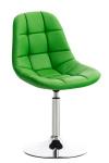Židle Emon syntetická kůže, zelená