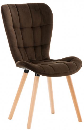 Židle Enamo samet, hnědá