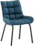 Židle Meele látkový potah, modrá