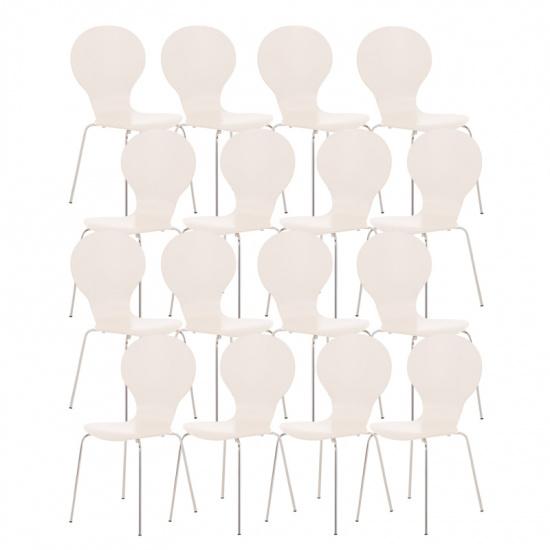 16 ks / set jídelní / konferenční židle Mauntin, bílá