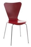 Jídelní / konferenční židle Mendy, červená