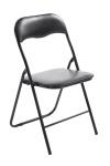 Skládací jídelní / konferenční židle, Emonio, černá / černá