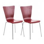 2 ks / set jídelní / konferenční židle Anaron, červená
