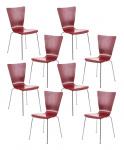 8 ks / set jídelní / konferenční židle Anaron, červená