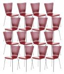 16 ks / set jídelní / konferenční židle Anaron, červená