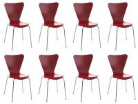 8 ks / set jídelní / konferenční židle Mendy, červená