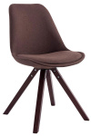 Jídelní / konferenční židle Tomse látkový potah, kapučíno podnož hranatá, hnědá