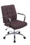 Kancelářská / pracovní židle Demo látkový potah, hnědá