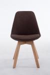 Jídelní / konferenční židle Borna V2 přírodní podnož / látkový potah, hnědá