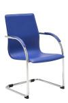 Jídelní / konferenční židle Melisa V2, modrá