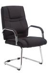 Jídelní / konferenční židle Sievert látkový potah, černá
