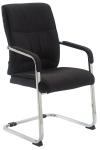 XL Jídelní / konferenční židle Diego látkový potah, černá