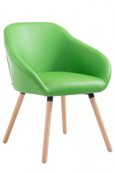 Jídelní / konferenční židle Ken syntetická kůže, přírodní podnož, zelená