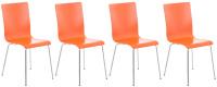 4 ks / set jídelní / konferenční židle Endra, oranžová