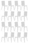 16 ks / set jídelní / konferenční židle Endra, bílá