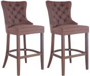 2 ks / set barová židle Taipeh látkový potah, antik, hnědá