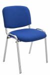 Jídelní / konferenční židle Kenna podnož chrom / látkový potah, modrá