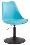 Jídelní / konferenční židle Lona otočná podnož černá / plast, modrá
