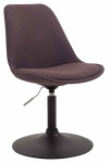 Jídelní / konferenční židle Lona otočná podnož černá / látkový potah, hnědá