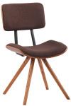 Jídelní / konferenční židle Delta látkový potah, ořech / hnědá