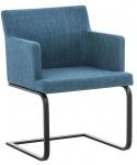 Jídelní / konferenční židle Alberton látkový potah, černá, modrá