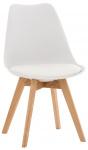 Jídelní / konferenční židle Borna, bílá