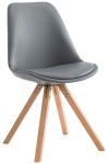 Jídelní / konferenční židle Laura podnož hranatá přírodní podnož (dub), šedá