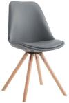 Jídelní / konferenční židle Laura podnož kulatá přírodní podnož (dub), šedá