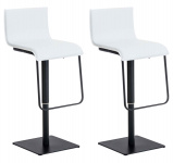 2 ks / set barová židle Limon syntetická kůže, černá, bílá