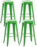 4 ks / set barová židle Factory, zelená