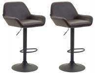 2 ks / set barová židle Braga syntetická kůže, hnědá