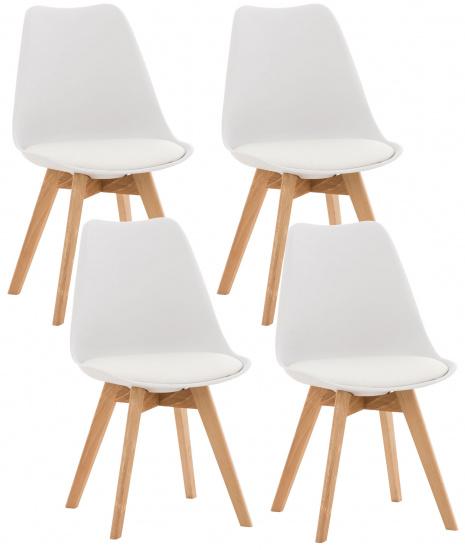 4 ks / set Židle Linares, bílá