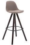 Barová židle Franklin látkový potah, podnož hranatá cappuccino, taupe