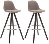2 ks / set barová židle Franklin látkový potah, kulatý cappuccino, taupe