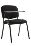 Jídelní / konferenční židle Kenna skládací stůl látkový potah, černá