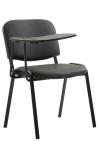 Jídelní / konferenční židle Kenna skládací stůl syntetická kůže, černá
